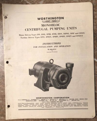 Worthington | Centrifugal Pumps | Surplus Industrial Equipment
