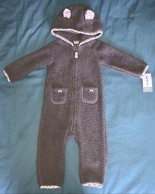 Carter's Baby Girl Sherpa Shepra Hooded Jumper Size 9 months