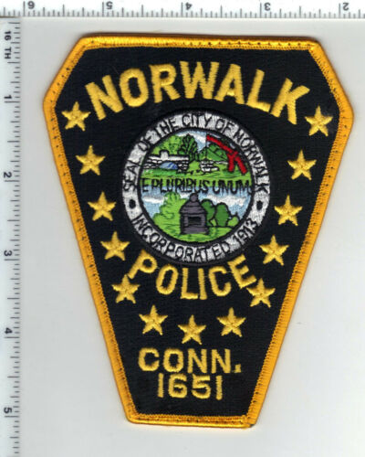 Norwalk Police (Connecticut) Uniform Take-Off Shoulder Patch from the 1980