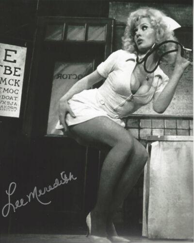 Sexy Playboy model & Actress Lee Meredith autographed 8x10 photo bonus 4x6