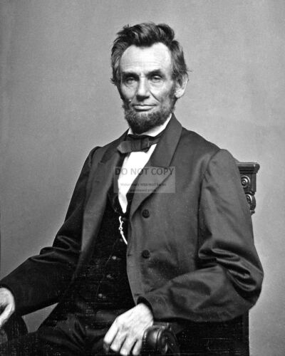 PRESIDENT ABRAHAM LINCOLN IN 1864 - 8X10 PHOTO (RT642)