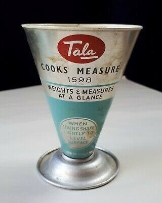 Vintage 1950s Kitchenalia. TALA COOKS MEASURE 1598. Authentic Retro Baking Aid
