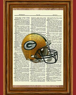 Green Bay Packers Dictionary Art Print Poster WI Football NFL Collectible Gift