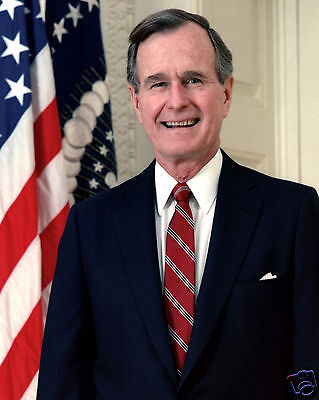 George H W  Bush Sr  41St President Portrait 11 X 14 Photo Photograph Picture