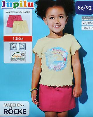 Mädchen Röcke 2 Stück Rock Kinder Kurze Hose Kinderrock 100% Baumwolle TOP NEU - Neuen Mädchen, Kind 2 Stück