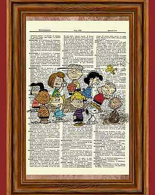 Charlie Brown Peanuts Dictionary Art Print Picture Poster Snoopy Lucy Sally](Peanut Charlie Brown)