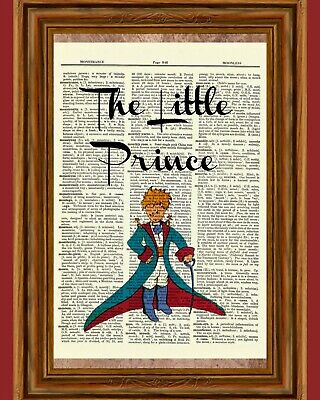 The Little Prince Dictionary Art Print Poster Picture Le Petit Prince Book Gift (Little Prince Photo)