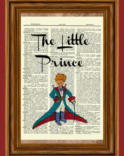 The Little Prince Dictionary Art Print Poster Picture Le Petit Prince Book Gift