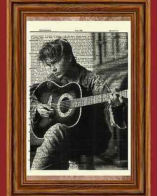 River Phoenix Dictionary Art Print Poster Picture Vintage Book Guitar Portrait