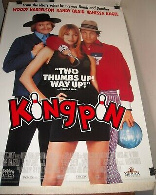 ROLLED 1996 KINGPIN VIDEO MOVIE POSTER WOODY HARRELSON RANDY QUAID FARRELLY BROS