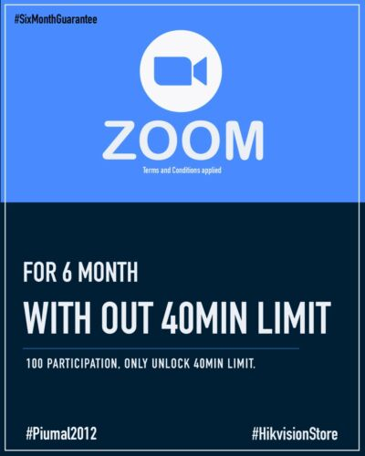 Zoom Meeting Account Education  License 100 Participant 6 Month