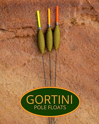 3 no. Hand made GORTINI 4x14 NiTi Ultra wire stem pole float handmade floats set