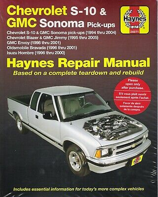 1994-2005 S10 Sonoma Blazer Jimmy 4x4 Envoy Haynes Repair Shop Manual Book 3270