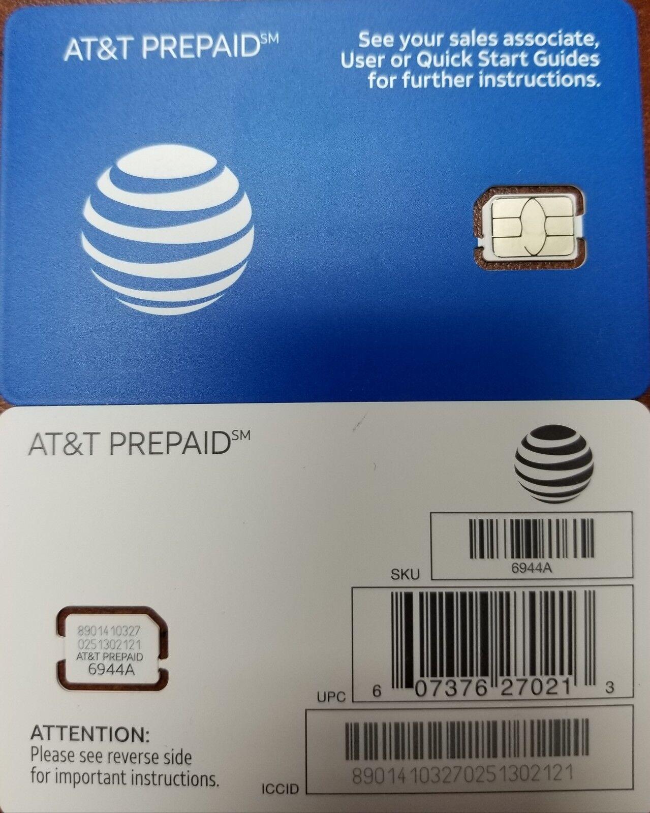 как выглядит SIM-карта для мобильного телефона Genuine AT&T OEM Nano SimCard L, supports 4G LTE.  Prepaid Go Phone or Contract фото