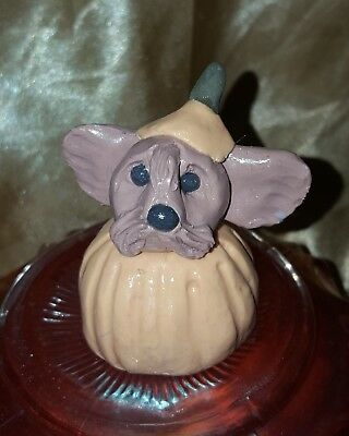 HANDMADE SCULPTED YORKSHIRE TERRIER YORKIE HALLOWEEN PUMPKIN HEAD DECOR](Yorkshire Halloween)