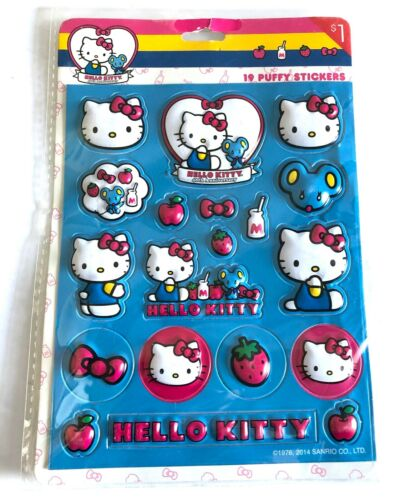 Collectible Hello Kitty Sanrio 40th Anniversary 19 Puffy Stickers