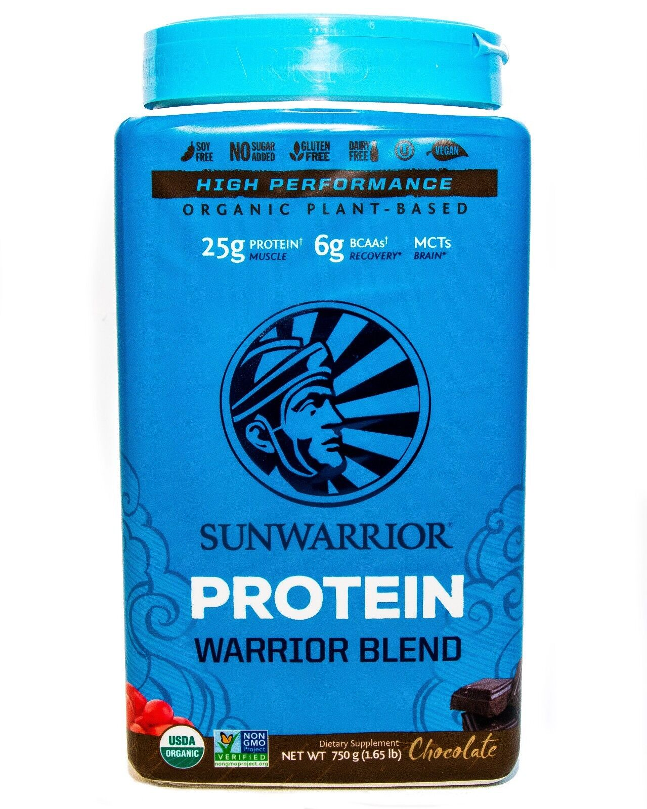 SunWarrior Warrior Blend Plant Based Organic Protein, 20 - 30 Servings CHOCOLATE