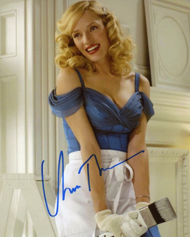 "Uma Thurman ""The Producers"" AUTOGRAPH Signed 8x10 Photo ACOA"