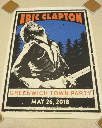 Eric Clapton Greenwich Town Party Limited Edition 2018 Poster