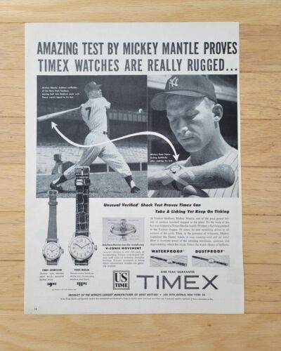 ORIGINAL 1953 MICKEY MANTLE TIMEX MAGAZINE ADVERTISEMENT