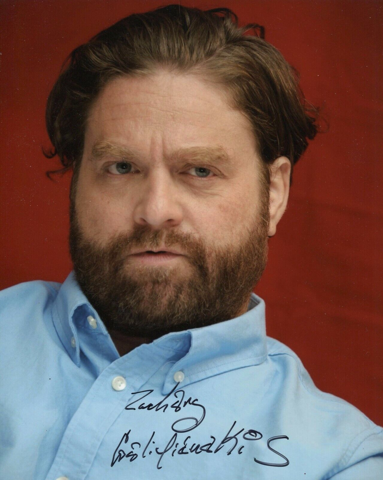 Zach Galifianakis Signed 8x10 Lot Of 2 Auto Autograph The Hangover Between Ferns - $1.00