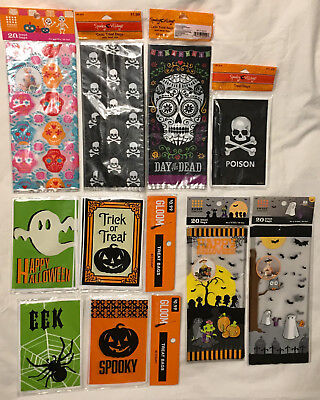Halloween themed treat bags party sacks - you pick assorted new in package