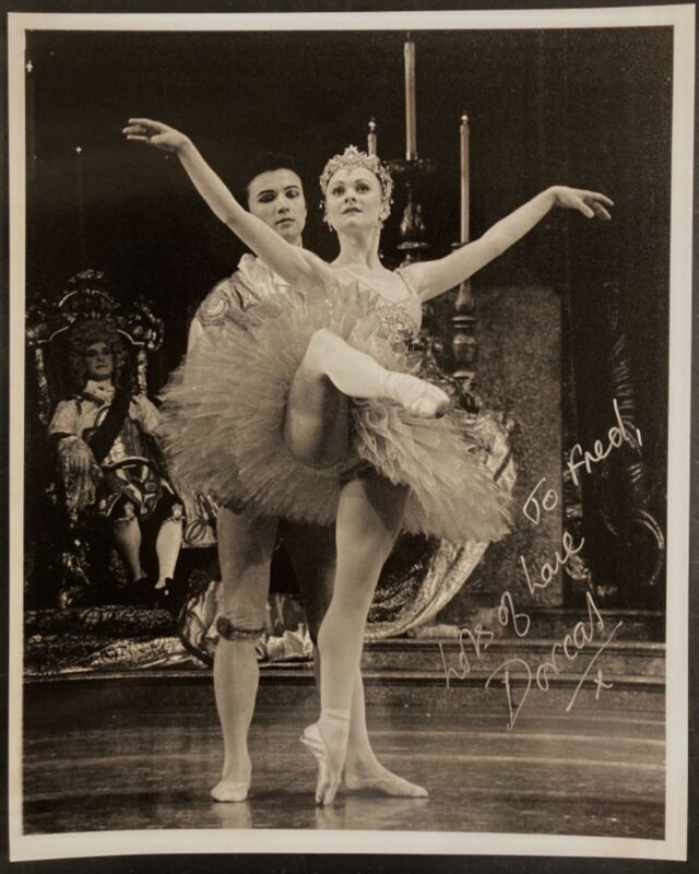 Signed ballet ballerina photo of Dorcas Walters UK Royal Ballet by Paul Butler