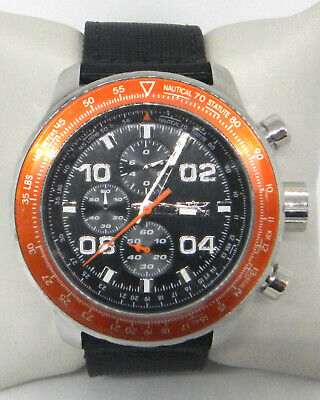INVICTA AVIATOR CHRONOGRAPH BLACK NYLON STRAP 18776 $300.00