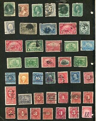 STAMP LOT OF THE U.S.FAULTY ITEMS, SOME WITH MINOR FAULTS
