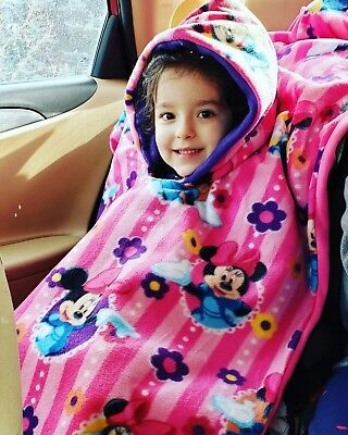 Ponchos For Kids (Car Seat Poncho For Kids Fleece Double)
