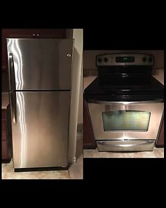 Stainless Steel Fridge and Stove Combo
