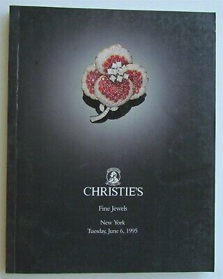 1995 FINE JEWELS CHRISTIE'S NEW YORK AUCTION CATALOG w/ Rudolf Nureyev JEWELRY