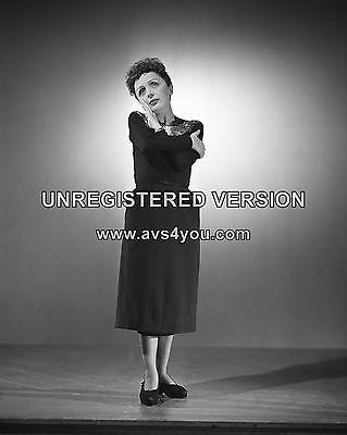 "Edith Piaf 10"" x 8"" Photograph no 1"
