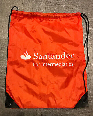Santander Bank For Intermediaries Red Drawstring Gym Sport Bag  for sale  Shipping to Nigeria