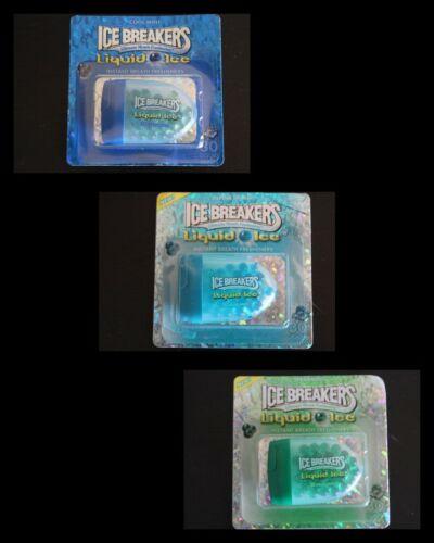 🧊3 Packs 30 ct Ice Breakers Liquid Ice /COOL MINTS ~ ALPINE SPLASH ~SPEARMINT🧊