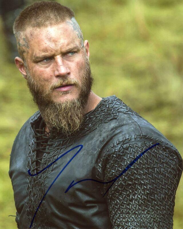 """Travis Fimmel """"Vikings"""" AUTOGRAPH Signed 8x10 Photo C"""