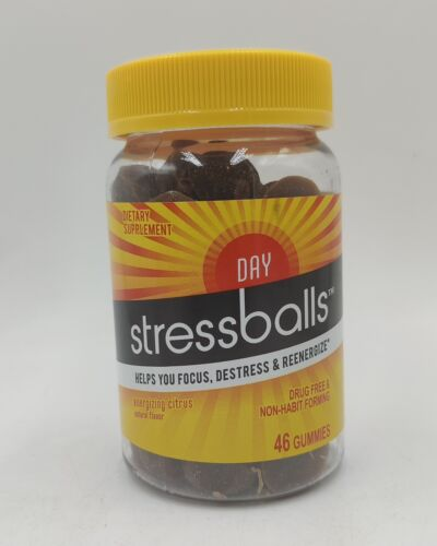 Stressballs Day, Stress Gummy Vitamins, 46 Gummies, Citrus Natural Flavor