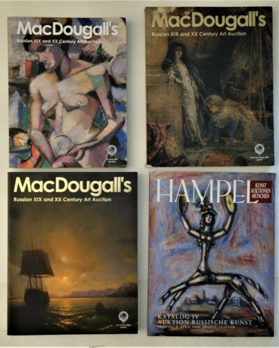 FOUR Auction Catalogs of Russian Art,  2007 and 2008, MacDougall