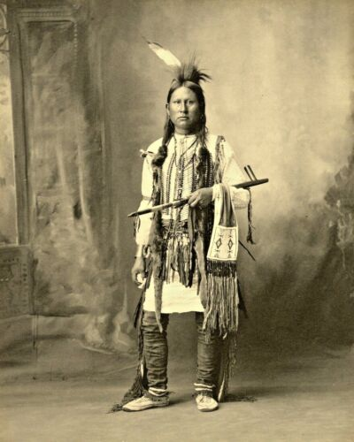 1898  BLACK OTTER Native American Arapahoe Indian-Quality 8x10 PHOTO