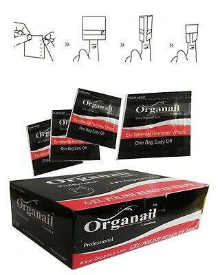 Organail 10 Wraps Remover Pure Acetone Nail Polish UV/LED GEL Soak Off ⭐⭐⭐⭐⭐