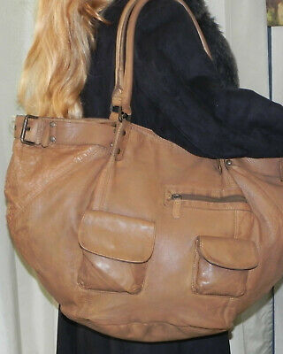 ❤️❤️IKKS ❤️❤️ SAC THE FISHERMAN OVERSIZE EN CUIR