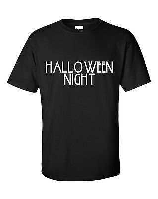 HALLOWEEN NIGHT funny t-shirt gift idea party fun humour sarcasm halloween](Halloween Fun Party Ideas)