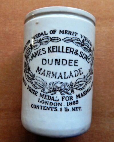 Vintage James Keiller & Sons Dundee Marmalade Jar Grand Medal Merit Vienna