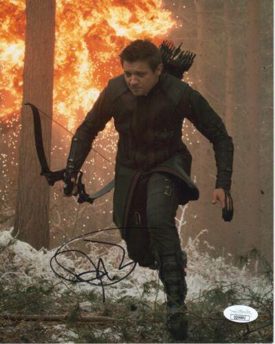 Jeremy Renner Hawkeye Avengers Autographed Signed 8x10 Photo COA  JSA