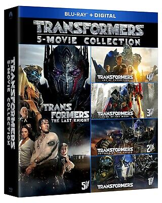 New! TRANSFORMERS: 5 Movie Collection Blu-ray + Digital 6-Disc | FACTORY SEALED