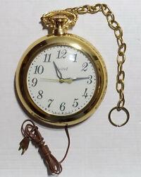 Vintage United Clock Corp. Pocket Watch Wall Clock Model 370