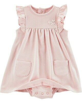 Carter's Baby Girl Stipe Dress with Cardigan Set 6, 9, 12 months