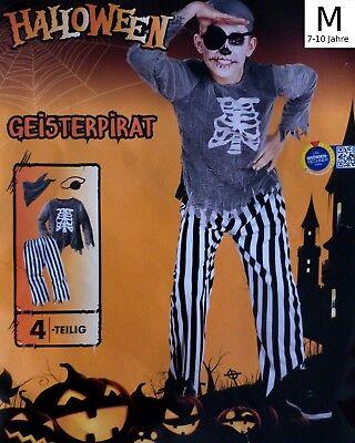 Kinder Halloween Pirat Kostüme (Kinder Karnevals Kostüm M Pirat Fasching Halloween Karneval Karnevalskostüm)
