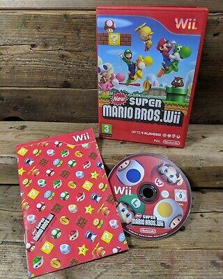 New Super Mario Bros (Nintendo Wii) Complete ~ PAL ~ Free Post
