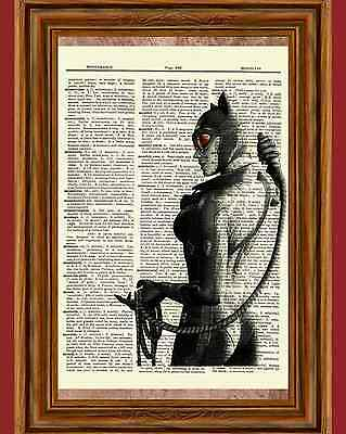 Catwoman Batman Dictionary Art Print Poster Picture Marvel Comic Superhero ()